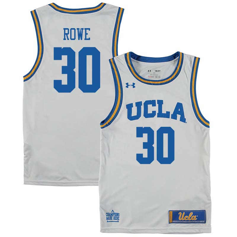 Men #30 Curtis Rowe UCLA Bruins College Basketball Jerseys Sale-White