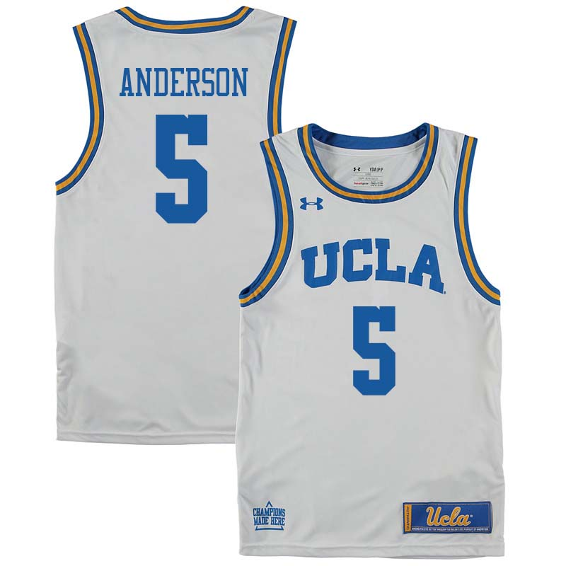 Men #5 Kyle Anderson UCLA Bruins College Basketball Jerseys Sale-White