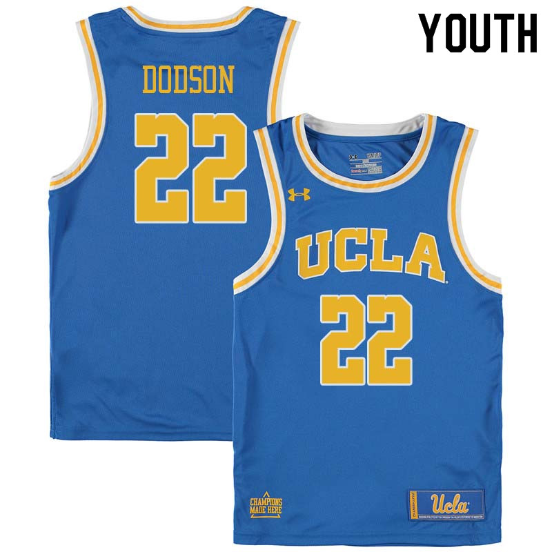 Youth #22 Armani Dodson UCLA Bruins College Basketball Jerseys Sale-Blue