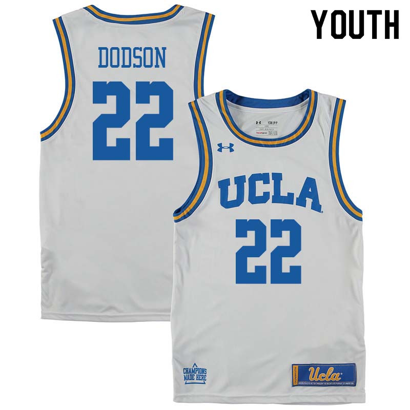 Youth #22 Armani Dodson UCLA Bruins College Basketball Jerseys Sale-White