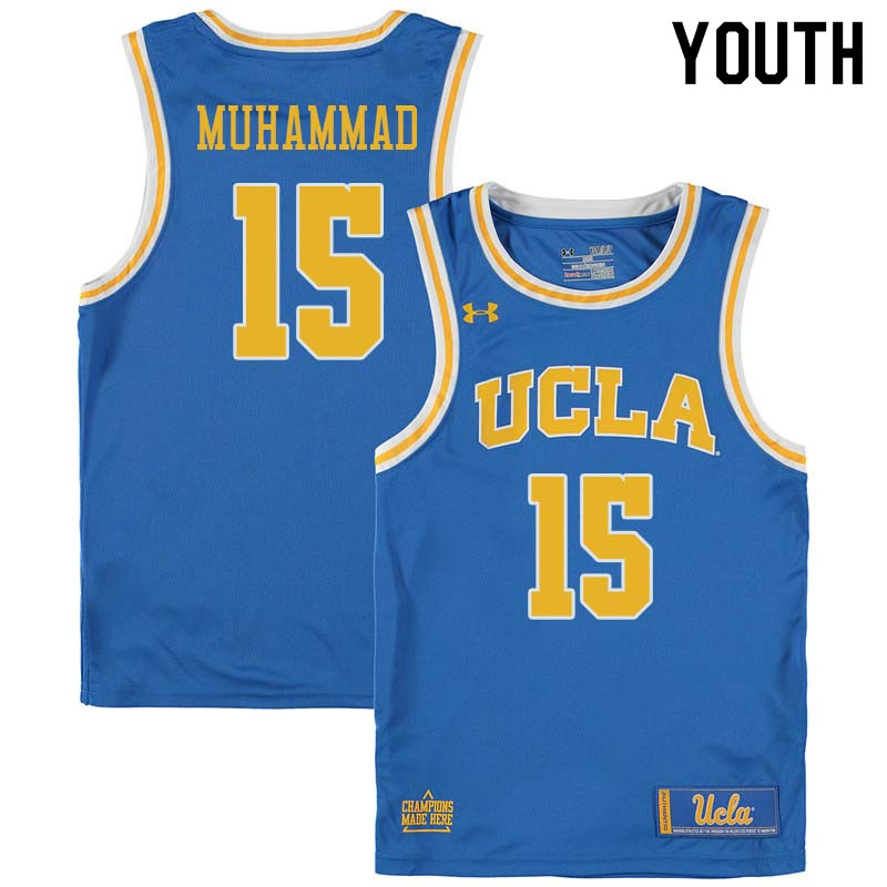 Youth #15 Shabazz Muhammad UCLA Bruins College Basketball Jerseys Sale-Blue